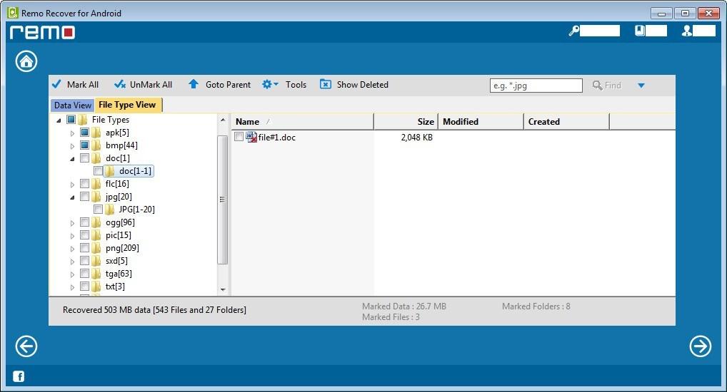 Viewing File Types