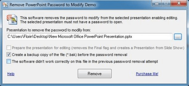 remove powerpoint password without software