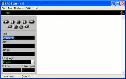 Lrc editor 4. 0 download.