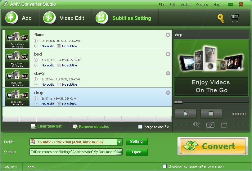 Amv Converter Studio Download Video Tool To Convert Videos To Amv Mtv Format