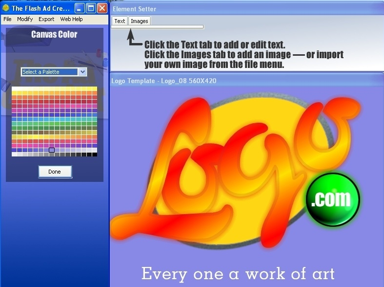 Logo creating process