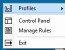 Selecting Profile from the Tray Menu