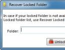 Recover Locked Folder