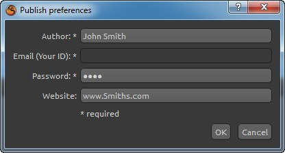 Publish Preferences
