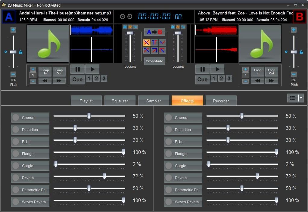 Audio Effects Window