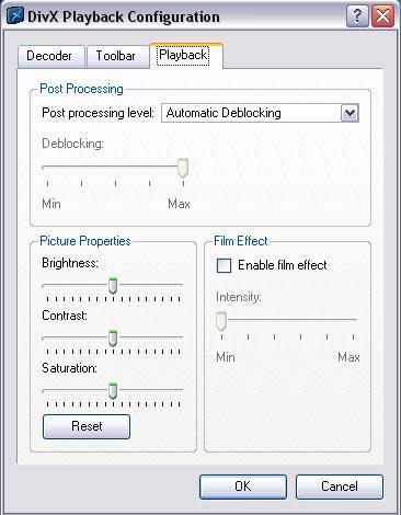 DivX Configuration
