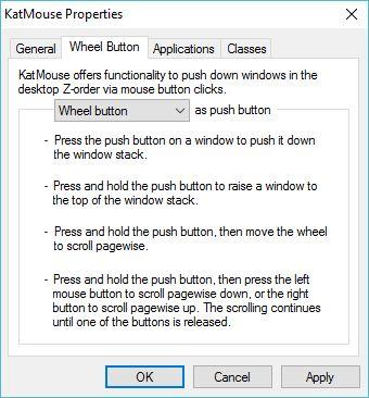 Wheel Button Window