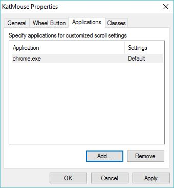 Configuring Applications Settings