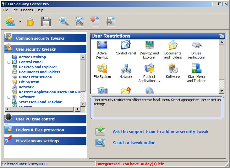 1st Security Center Pro Download - It enables you to impose access