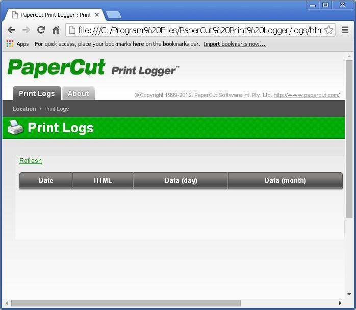 Print Logs Window