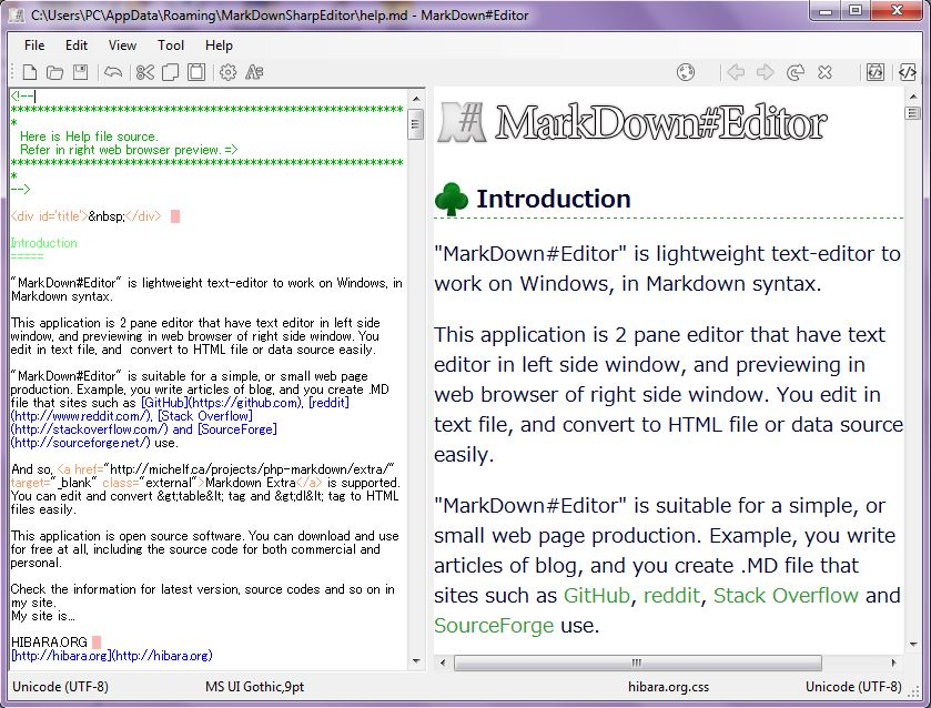 MarkDown#Editor Download - Edit text in Markdown syntax in order to