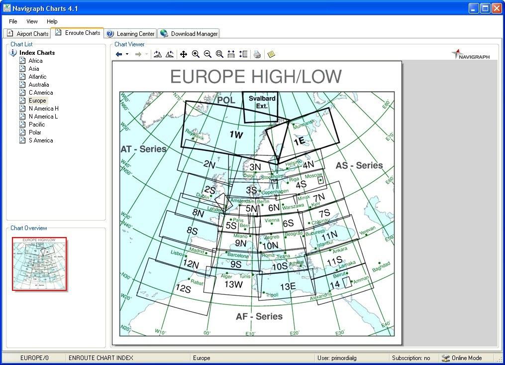Enroute Chart Window