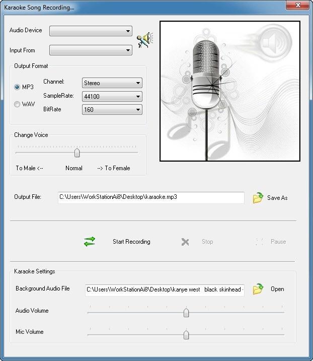 Karaoke Song Recording