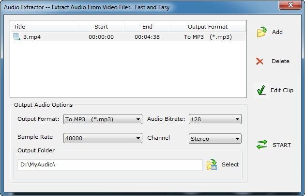Extracting Audio