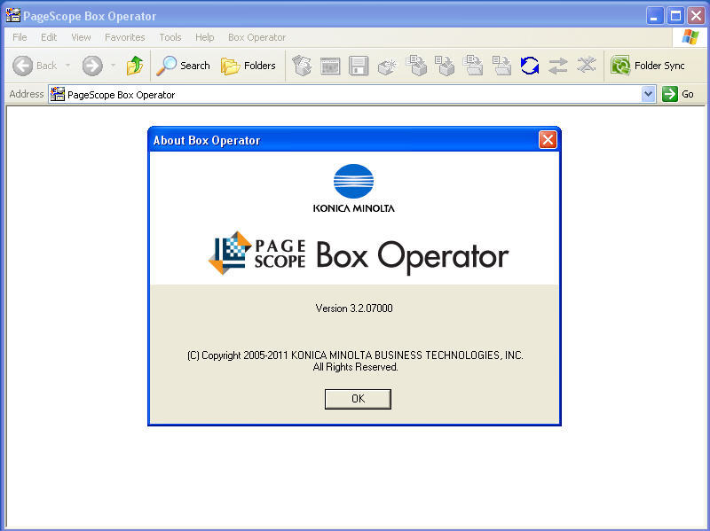 PageScope Box Operator Download - Used for managing files