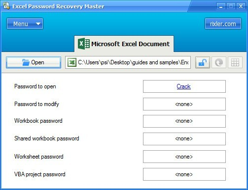 Decrypting an Excel File