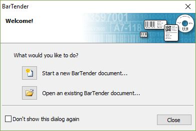 BarTender 10 1 Download (Free trial) - Bartend exe