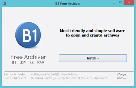 B1 Free Archiver 1 2 Download (Free) - B1Manager exe