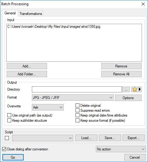 Batch Processing Window