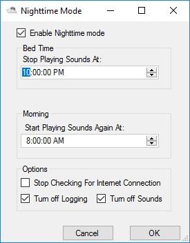 Nighttime Mode Settings