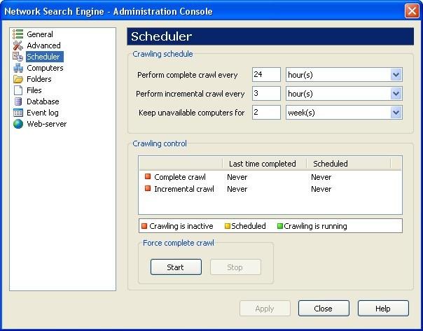 Admin Console Window