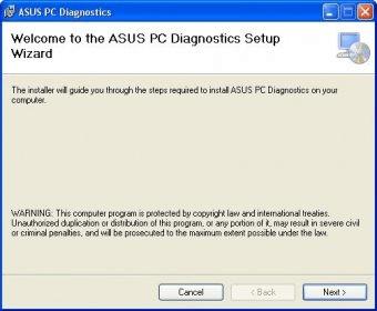 asus hard drive diagnostic