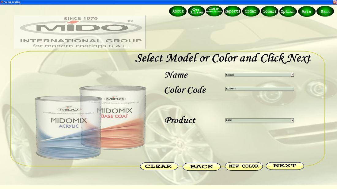 Color Mode Window