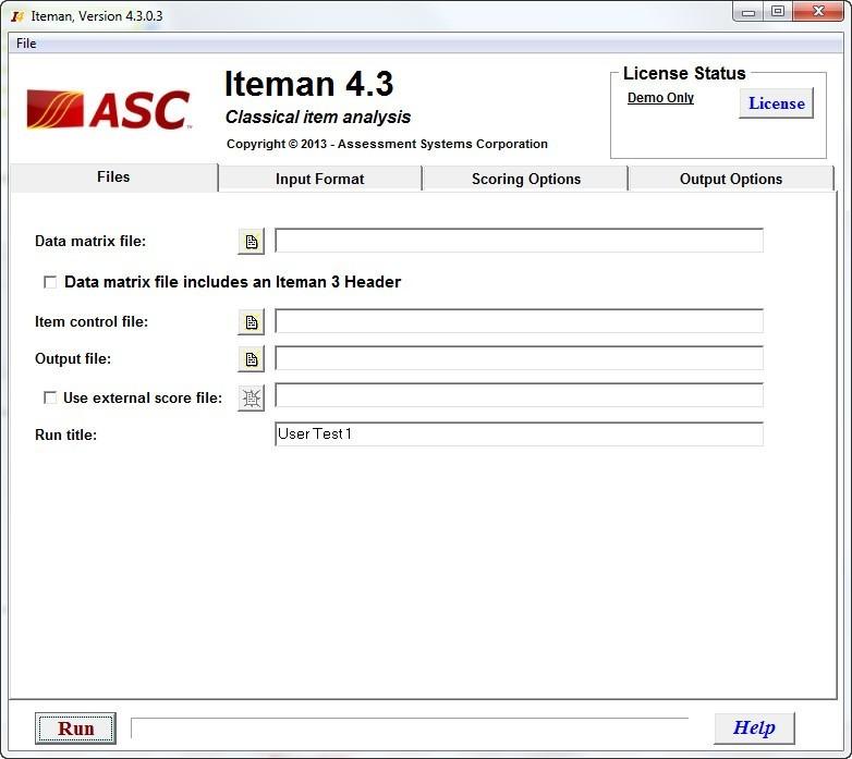program iteman 3.0