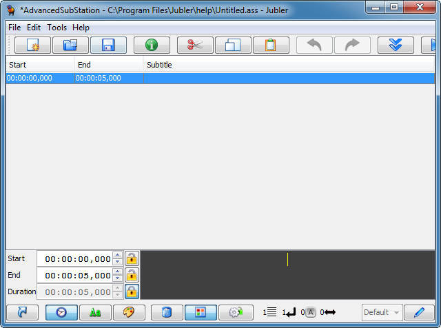 Jubler subtitle editor 4 6 Download (Free) - Jubler exe