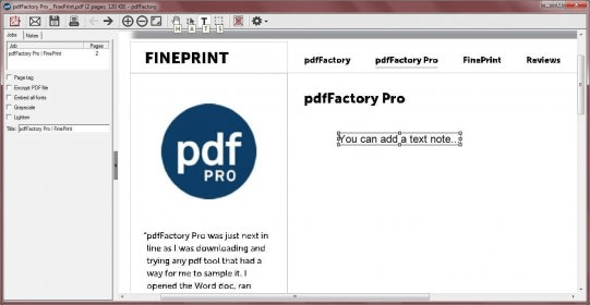pdffactory freeware