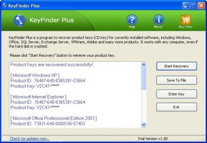 KeyFinder Plus Download - A program that allows you to