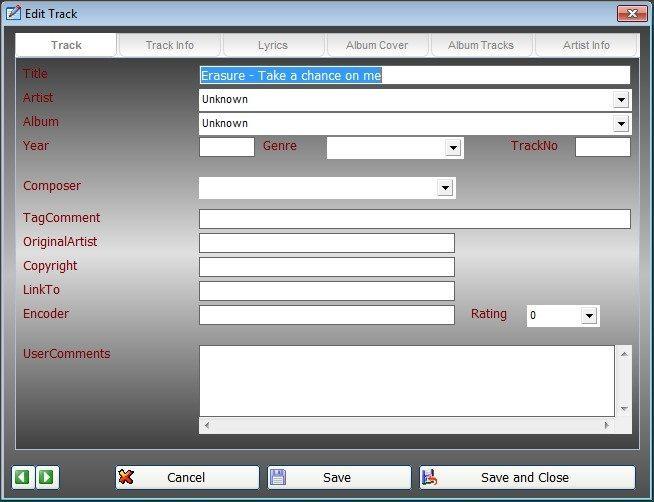 Tag Info Editor