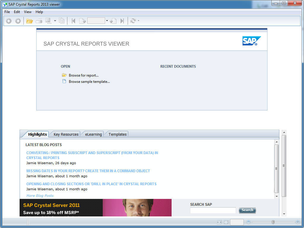 SAP Crystal Reports 2013 viewer 14 1 Download (Free