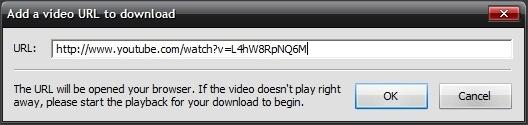 Add URL Window
