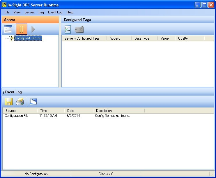 Cognex In-Sight OPC Server Download - It is a program that