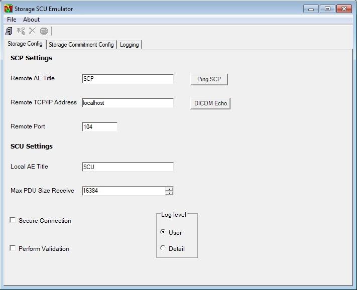 dvtk storage scu emulator