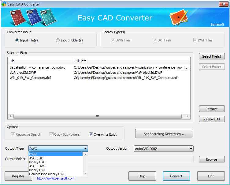 Easy CAD Converter 2 5 Download (Free trial) - EasyCADConverter exe