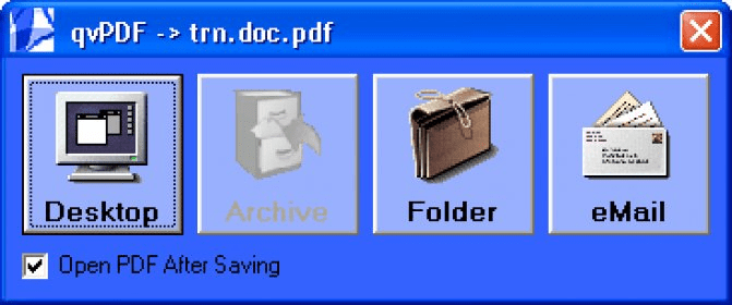 qvPDF Download - A free and complete PDF virtual printer to