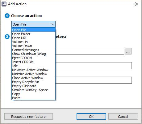 Adding Action to Hotkey