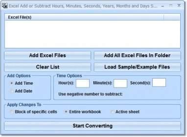 Excel Add or Subtract Hours, Minutes, Seconds, Years, Months
