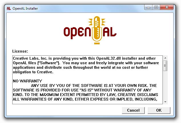 OpenAL Installer