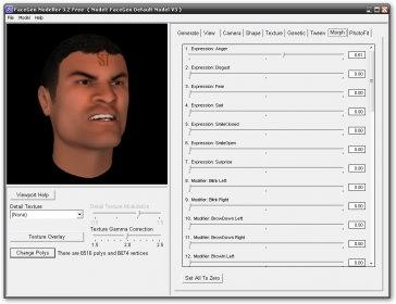FaceGen Modeller Free Software Informer: version 3 3 information