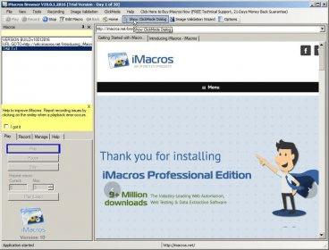 iMacros 11 0 Download (Free trial) - imacros exe