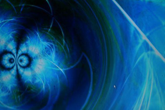 Blue Fantasy Screensaver-Sample screen