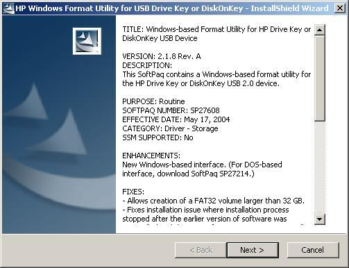 Initial Install Screen