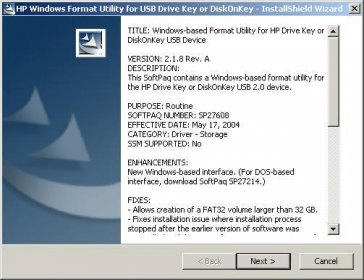 Fixed HP USB Disk Storage Formatting Tool Failed to Format Device
