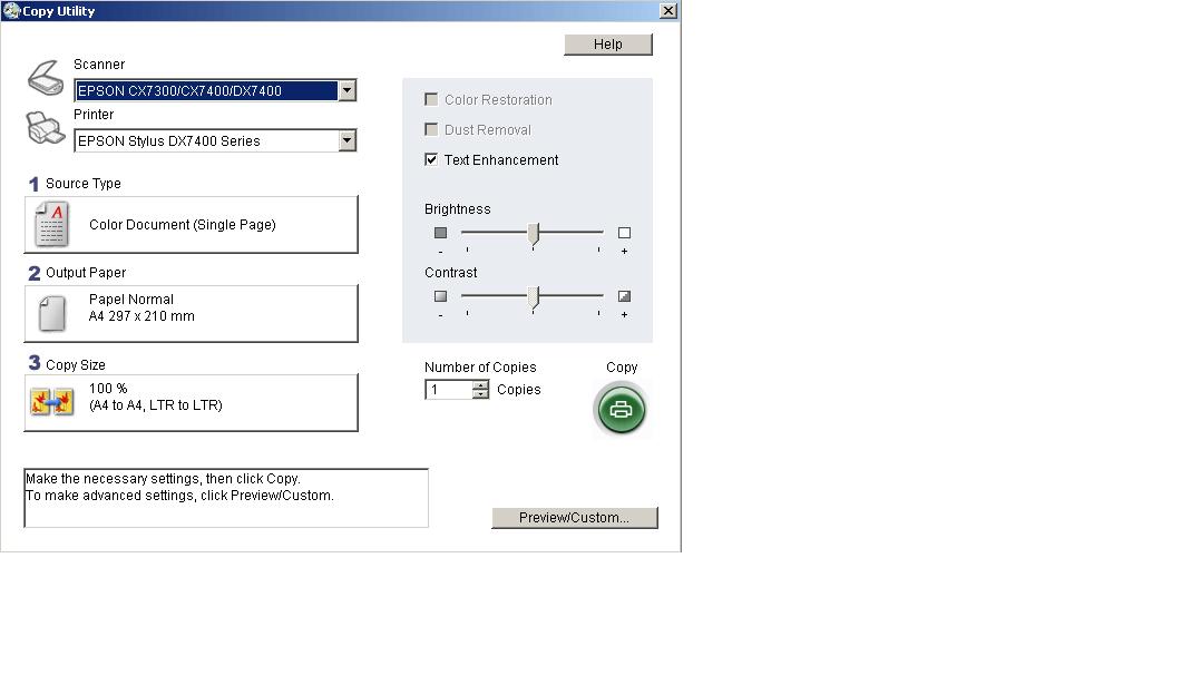 Copy Utility Interface