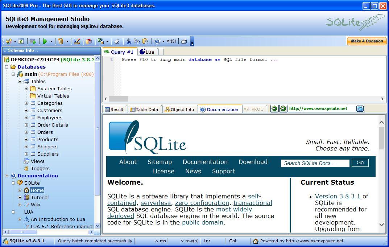 SQLite2009 Pro 3 8 Download (Free) - SQLite2009Pro exe