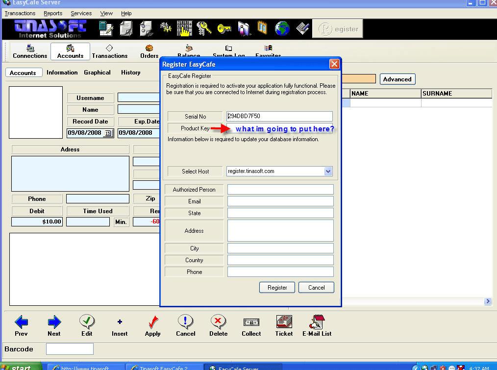 V2.2.14 TÉLÉCHARGER TINASOFT EASYCAFE