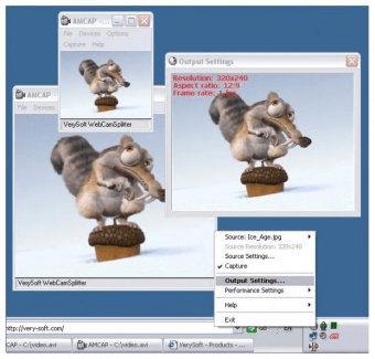 VerySoft WebCamSplitter Download - Use your webcam with